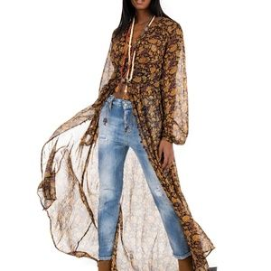 2xHP💝Free People Valerie Floral Duster xs